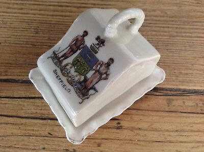 Gemma, Crested China, Miniature Cheese Dish , Sheffield Crest