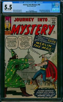 Journey into Mystery # 96  The Power of Merlin the Mad !   CGC 5.5 scarce book !