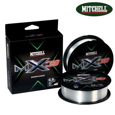 MITCHELL MX3 MONOFILAMENT CLEAR FISHING LINE 150m or 300m SPOOL - ALL SIZES