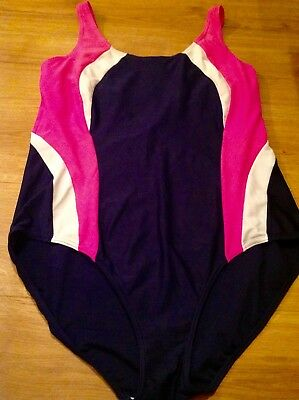 Marks & Spencer Ladies Swimming Costume,navy Blue Mix Colour,size 20