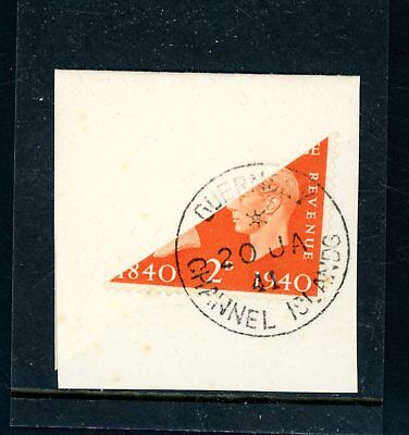 1941  (20 Jan)  WWII  Occupation Piece, 2d Orange Bisect    (O1310)