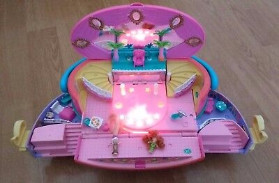 Polly Pocket 1995 Bluebird Light Up Vgc Fashion Show Hatbox With Some Figures