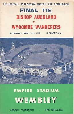 BISHOP AUCKLAND v WYCOMBE WANDERERS 13/4/57 AMATEUR CUP FINAL