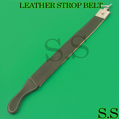 Real Leather Sharpening Strop Paste For Straight Cut Throat Shaving Razor Knife