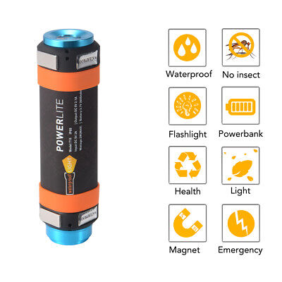 Rechargeable LED Flashlight Camping Lamp Outdoor Tent Fishing Power Bank HS1027