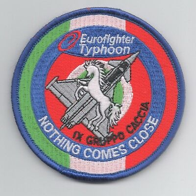 Italian Air Force IX Gruppo Typhoon patch, hook and loop backing