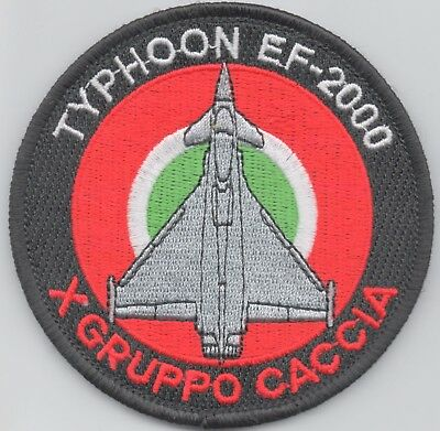 Italian Air Force X Gruppo Caccia Typhoon patch, hook and loop backing