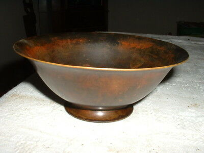 Unusual Antique Danish Bronze Bowl L.m.f. Bronze
