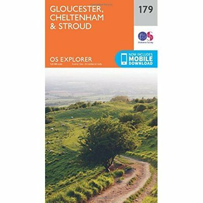 OS Explorer Map (179) Gloucester, Cheltenham and Stroud - Map NEW Ordnance Surve