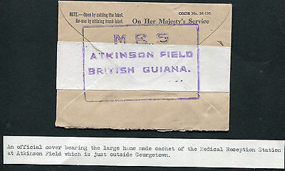 BRITISH GUIANA: (12902) Medical Reception cancel/cover
