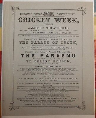 Kent - Canterbury Cricket Week Poster 1883 - Old Stagers