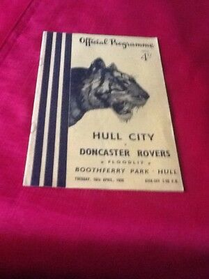 Hull City  V.  Doncaster Rovers  1955-1956