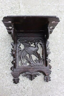 Antique Carved Sculpted Wood Wooden Ornate Ornamental Pipe Rack Gryphon Griffin