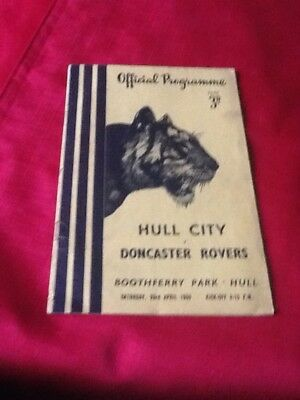 Hull City  V. Doncaster Rovers. 1954-1955