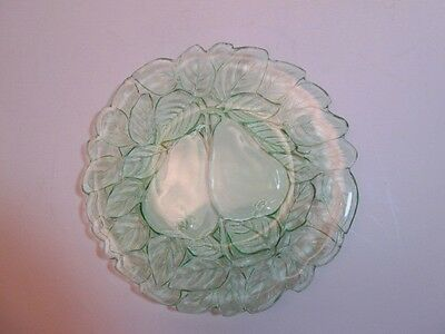 "Indiana Glass Green Avacado Dish 8 1/4"" Diameter"