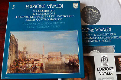 Philips 6768 011 Vivaldi Violin Concs/ 4 Seasons 5Lp Accardo I Musici Nm (1978)