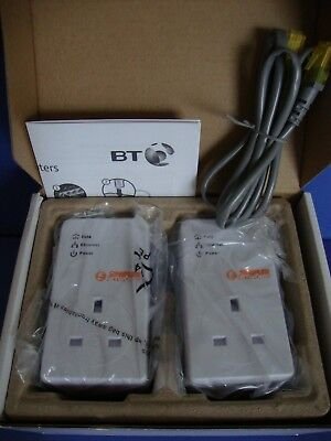BT Powerline Adapters HP200PT64BT2 Simpler Networks Unused/Boxed + Cable & Guide