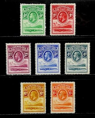 Basutoland, British: 1933 Classic Stamp Collection Unused Scott #1-7 Cv $14.75