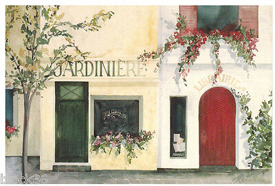 Nice postcard with Street Scene view in French town