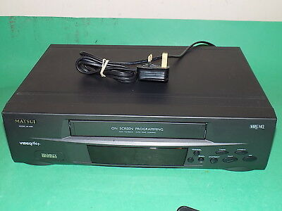 MATSUI VP9409 Video Tape Cassette Recorder VHS VCR FULLY WORKING BLACK