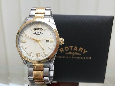 d321a40d5c8 Rotary Men s Watch Day   Date 9ct Gold plated Mineral Glass RRP £250 (R110