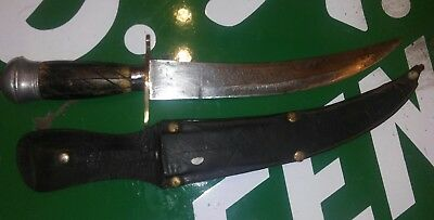 VINTAGE MIDDLE EASTERN ANTIQUE INDO PERSIAN ISLAMIC DAGGER CURVED BLADE knife