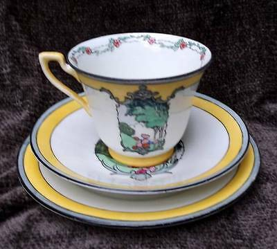 Adderley Ware Watteau Pattern Art DecoTrio,Cup,Saucer & Plate 1930's