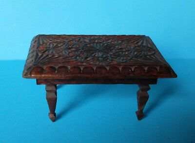 Vintage 1930/40's German Dolls House Period Carved Table  In Need Of Restoration