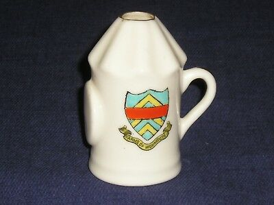 Crested China Model Of A Policeman's Lamp - Arms Of Monmouth