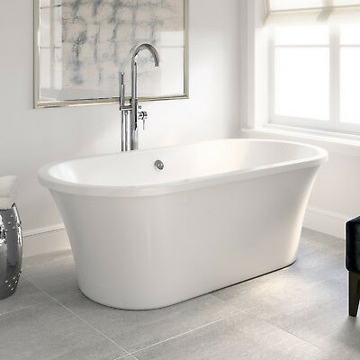 Modern Freestanding Bath Acrylic White Luxury Roll Top Bathroom Tub 1700mm NLT