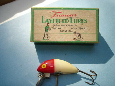 Layfield Lure in Correct Box Tyler Texas Bait Sunny Brook Lure Company