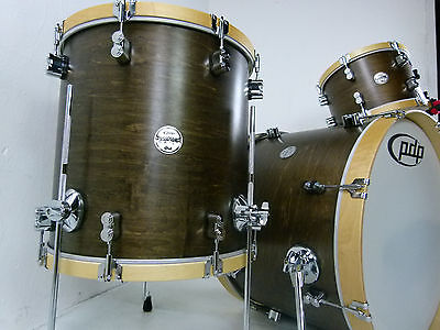 PDP by DW Concept Maple Drumset Wood Hoop Schlagzeug Walnut