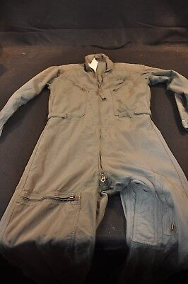Coveralls Flyer's Summer Fire Resistant 38R Flight Suit CWU-27/P Sage Green A102