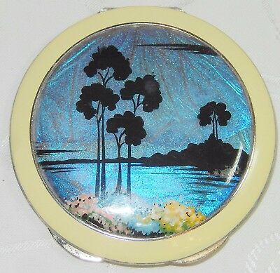 Exquisite Butterfly Wing Ladies Vanity Mirror Powder Compact Thomas Mott Tlm