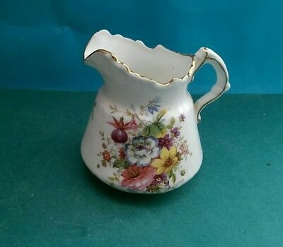Vintage Hammersley China Creamer / Cream Jug - Flowers Signed F Howard