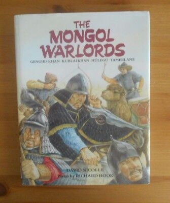 MONGOL WARLORDS ILLUSTRATED BOOK maps illustrations photos