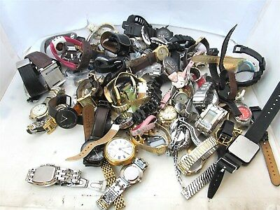 10.45LBS. Assorted Watch Lot-Citizen, Invicta, FOR PARTS OR REPAIR #7559A (OS)