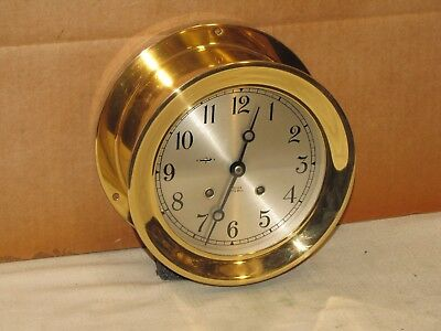 """Chelsea Vintage Ships Bell Clock~6""""dial~Circa 1974~Restored"""