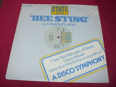 Camouflage:   Bee Sting   1977   EX   12""