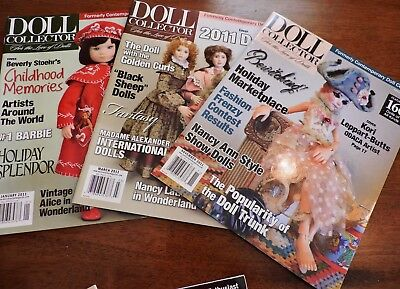 3 DOLL Collector Magazines from 2011
