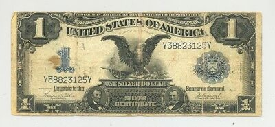 $1 Series 1899 Silver Certificate, average circulated, good looking, no reserve