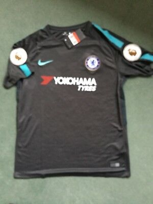 Chelsea 3rd Away Football Shirt 2017/2018 Adult New with Tags + Sleeve Badges