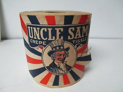 Very Old Unopened Roll of Toilet Paper - UNCLE SAM CREPE TISSUE