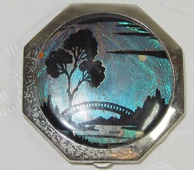 Beautiful Butterfly Wing Ladies Vanity Mirror Powder Compact T Mott Tlm & Vogue