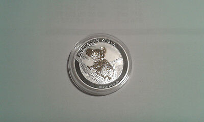 1 OZ Silber Koala 2015  mit Goldapplikation gilded