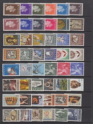 Greece 1964 - 1966 collection , 101 stamps MH or fine used