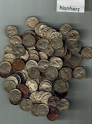 1 Roll 40 Coins Partial Date--No Date Buffalo Nickels