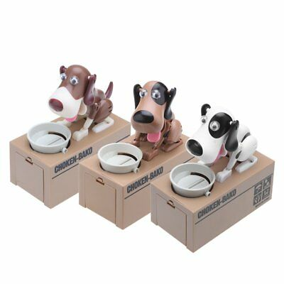 Creative Doggy Style Stealing Coins Box Piggy Bank Saving Money Case Kids Gift