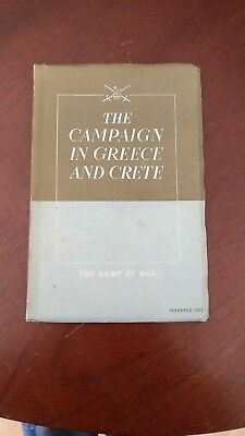 Rare WW11 Paperback - The campaign in Greece and Crete - 1942