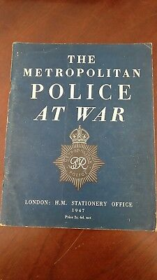 Rare WW11 Paperback - The Metropolitan Police At War - 1948